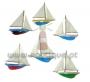 Imanes, veleiros, coloridos