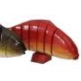Peixe exótico vermelho